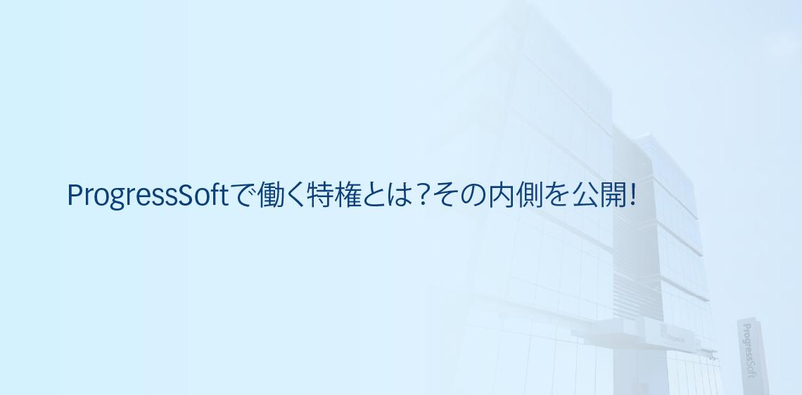 ProgressSoftで働く特権とは?その内側を公開!