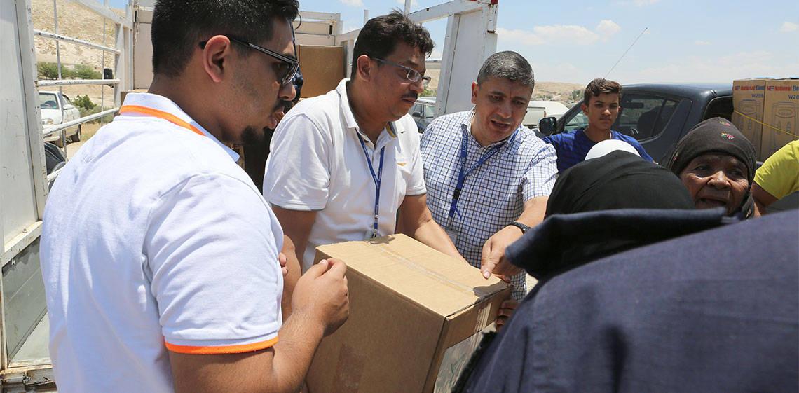 ProgressSoft y MoICT distribuyen paquetes de ayuda a familias necesitadas por tercer año