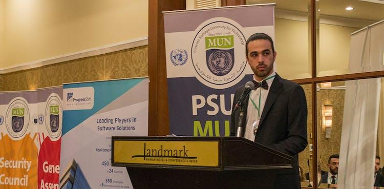 ProgressSoft Patrocina a Conferência MUN (Modelo das Nações Unidas) de 2017 realizada na Universidade Princesa Sumayya