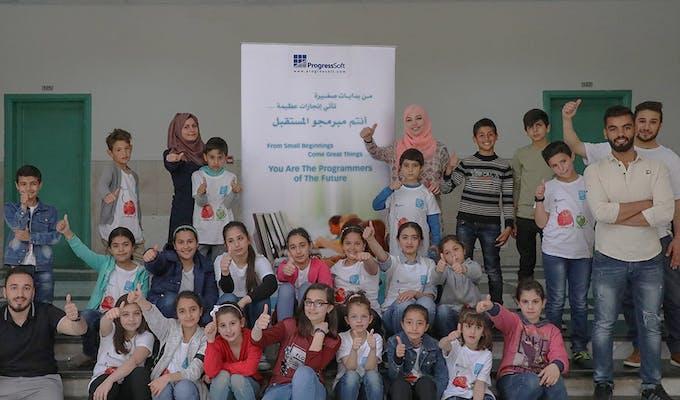 ProgressSoft продолжает оказывать поддержку инициативе по обучению программистов будущего в Иордании.