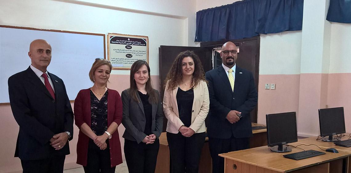 ProgressSoft en apoyo a la escuela Primaria Shmeisani