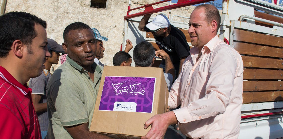 ProgressSoft 與 MoICT一道組織了第2屆在齋月期間幫助貧困家庭的活動