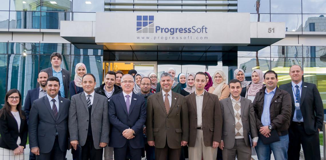 Eine Delegation der Universität von Jordanien (KASIT) besucht das Firmengelände von ProgressSoft