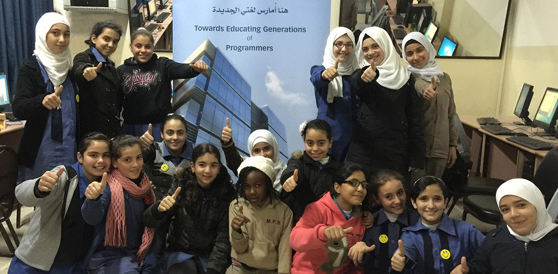 "ProgressSoft贊助倡議了""公立學校試點主題編程""並完成了第一階段"