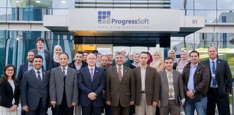 ヨルダン大学代表団、ProgressSoft施設を訪問