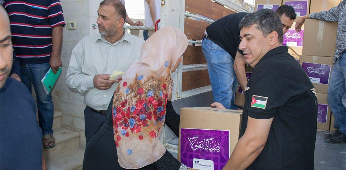 A l'occasion du mois sacré du Ramadan, ProgressSoft s'associe pour la 2ème année consécutive au MoICT afin de porter assistance aux familles démunies