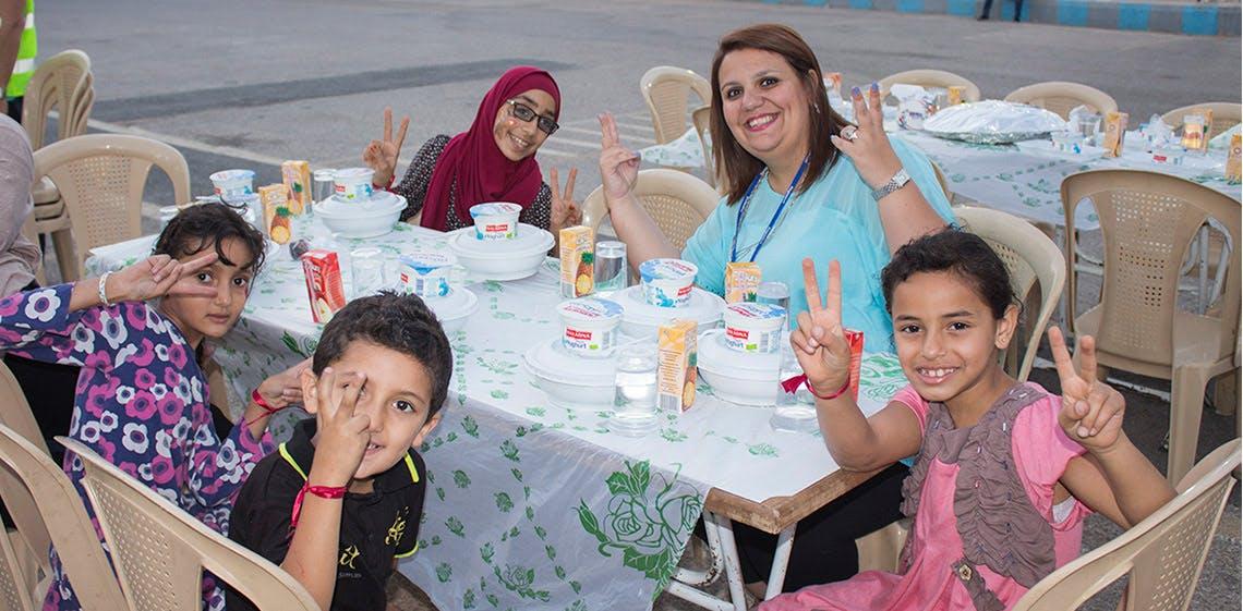 ProgressSoft 在蘇瑪雅公主大學對孤兒資助了開齋節活動