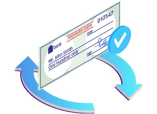 Módulo de cheques con fecha adelantada